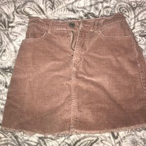 Corduroy light pink skirt